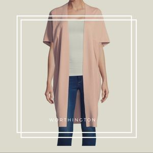 Worthington • Blush Short Sleeve Cardigan